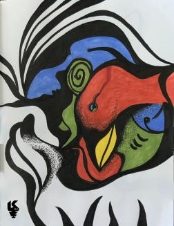 Dos mujeres, un ave, un pes y el amor
